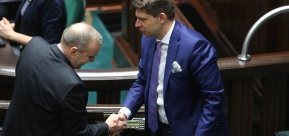 Dwaj liderzy opozycji - Schetyna i Petru