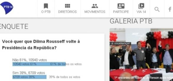 Internautas não querem que Dilma retorne a presidência