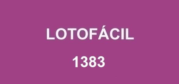 Resultado da Lotofácil 1383 será divulgado nessa segunda-feira
