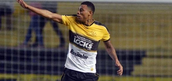 Gustavo, atacante do Criciúma que interessou o Corinthians. (Foto: Divulgação/Criciúma)