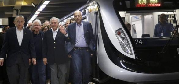 Temer inaugura nova linha de metrô, obra mais cara da Rio-2016
