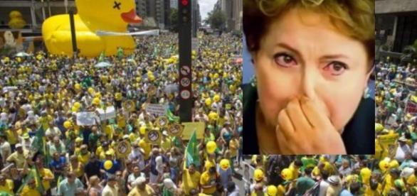 Brasileiros vão às ruas nesse domingo contra Dilma