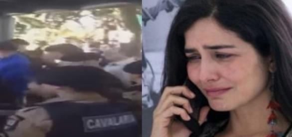 Letícia Sabatella é agredida em manifestação