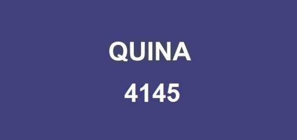 Resultado da Quina 4145 anunciado pela Caixa