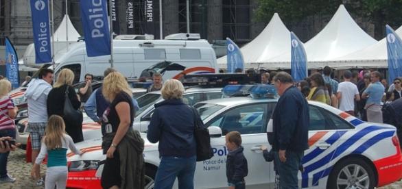 Exposition vehicules de la police à Bruxelles le 18 Juillet 2015