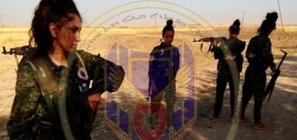Imagem divulgada na página do Facebook do grupo Forças de Proteção da Mulher Beznahrin