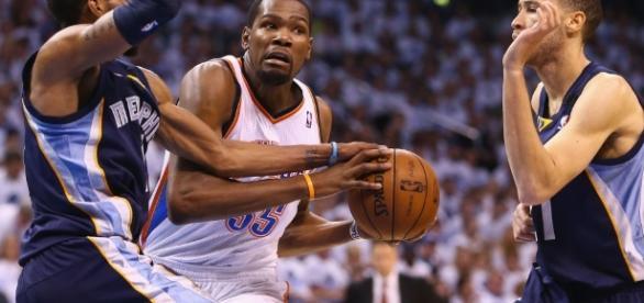 Kevin Durant foi um dos destaques do Oklahoma City Thunder ao longo dos últimos anos