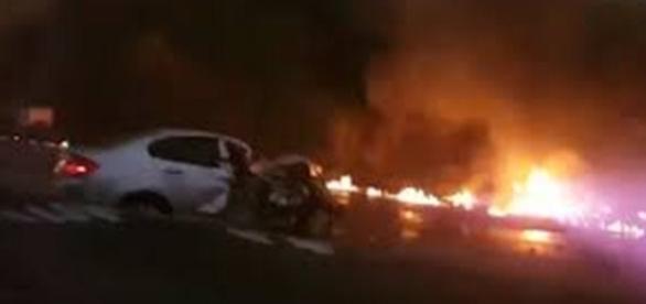 Além do caminhão mais doze veículo se envolveram na tragédia