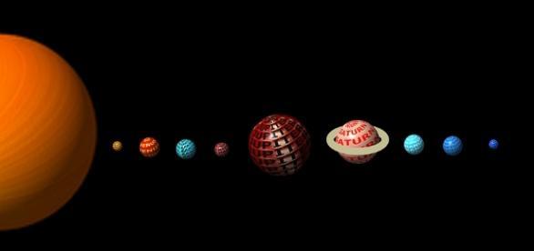 Los planetas del sistema solar alineados.