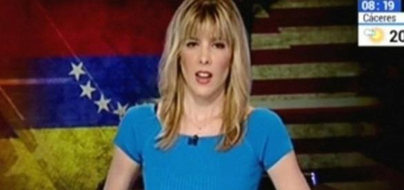 Narradora de Noticias de Televisora Española TVE difundió bandera de Venezuela al revés