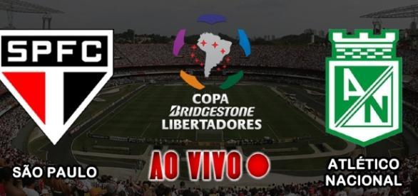 Acompanhe a partida entre São Paulo x Atlético Nacional pela Libertadores - AO VIVO.