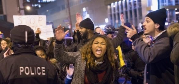 Foto de una de las protestas tras el incidente