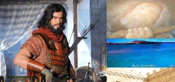Josué se prepara para atravessar o rio Jordão