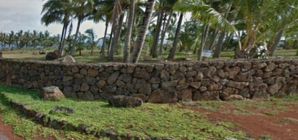 Muro de pedra em volta da propriedade