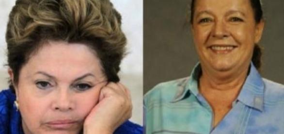 Dilma Rousseff e Bete Mendes - Foto/Reprodução