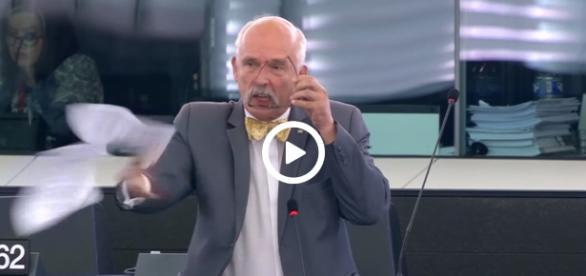 Janusz Korwin-Mikke, europoseł niezrzeszony