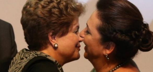 Kátia Abreu e Dilma Rousseff - Foto/Reprodução
