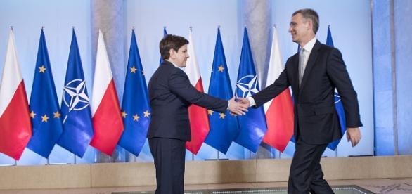 Premier Szydło wita sekretarza generalnego NATO