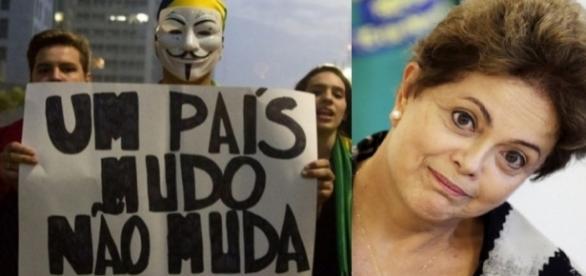Dilma Rousseff vira alvo de fortes protestos durante o ano