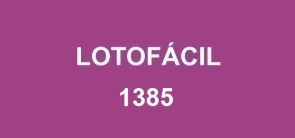 Sorteio da lotofácil 1385 acontece nessa sexta-feira; prêmio estimado em R$ 1,7 milhão
