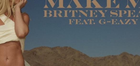 """Britney na capa do single """"Make Me"""""""