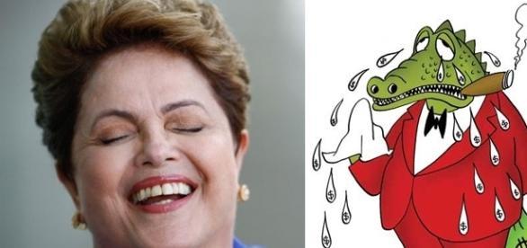Dilma chamou Cunha de 'falso' (Fotomontagem/Internet)