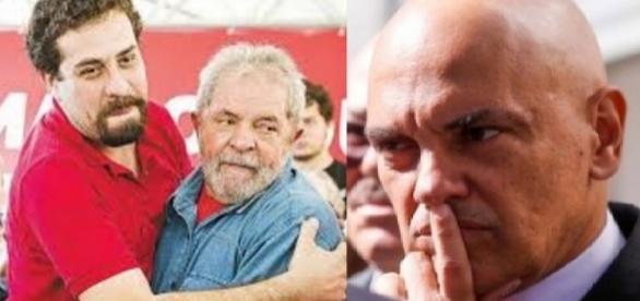Boulos e Alexandre de Moraes - Foto/Montagem
