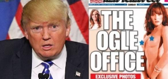 Esposa de Trump ganha capas de jornais nua