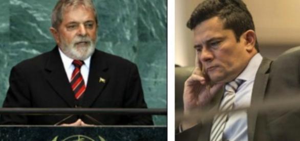 Lula e Sérgio Moro/Foto/Montagem