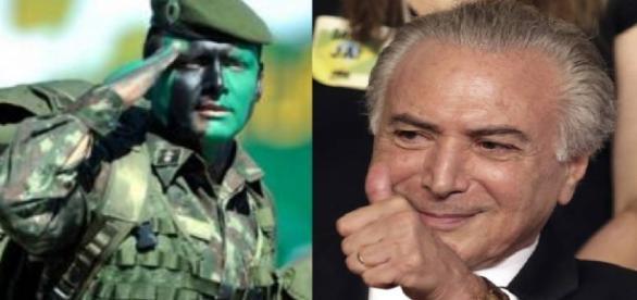 Michel Temer conclama o Exército brasileiro
