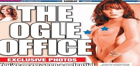 The New York Post - Melania Trump nuda foto- femminismo Hillary Clinton