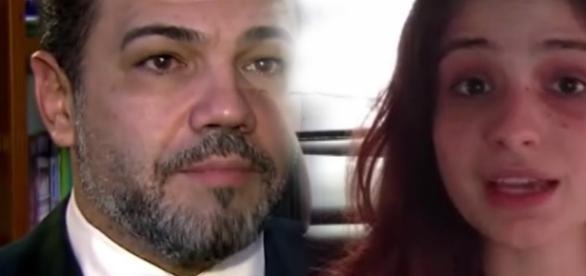 Feliciano e acusadora - Foto/Montagem