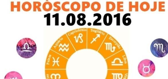 Horóscopo do dia 11.08.2016, quinta-feira.