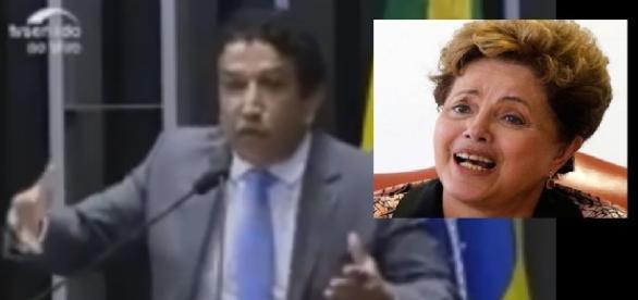 Magno Malta e Dilma - Foto/Reprodução
