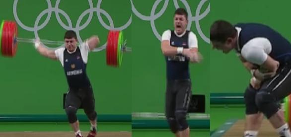 Atleta quebra o braço e reclama de forte dor