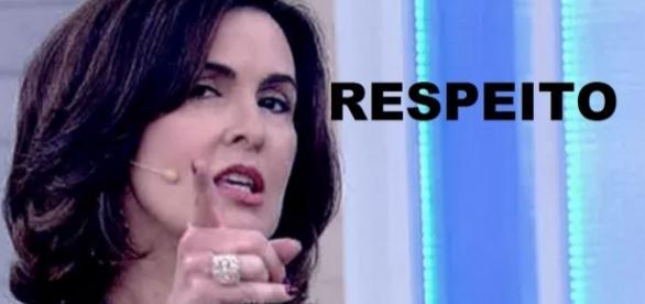 Fátima pede respeito ao vivo - Foto/Globo