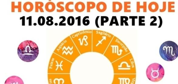 Horóscopo do dia 11 de agosto de 2016