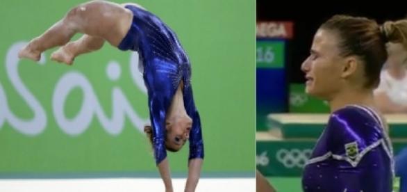 Jade Barbosa se machuca na Olimpíada