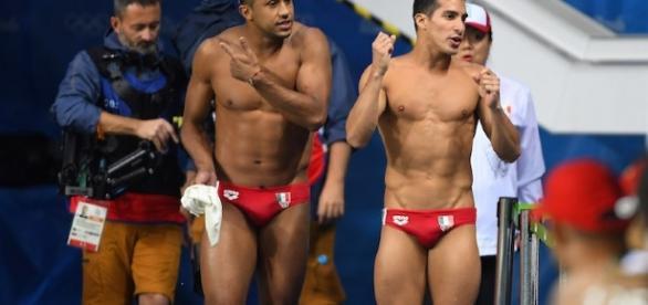 Visiblemente contrariados, los atletas Mexicanos, Jahir Ocampo Y Rommel Pacheco