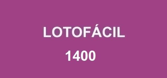 Divulgado o resultado da Lotofácil 1400