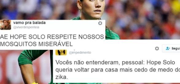 Hope Solo é eliminada depois de zombar de brasileiros