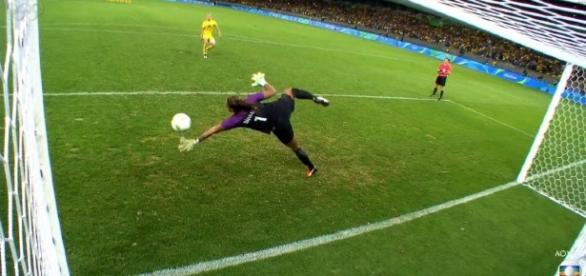 Brasil ganha nas penalidades - Foto/Reprodução: TV Globo