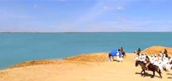 O povo hebreu às margens do rio Jordão