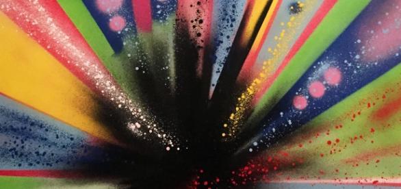 Alexis de Moussac often uses vibrant colors in his work. / Photo via Alexis de Moussac, used with permission.