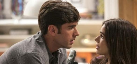 Felipe declara seu amor para Shirlei (Divulgação/Globo)