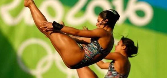 Atletas brasileiras dos saltos ornamentais