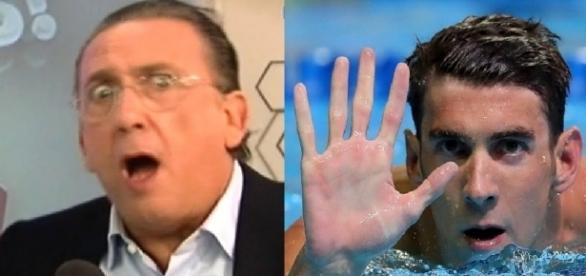 Galvão diz que Phelps não gosta de dar entrevistas (Reprodução/Globo)
