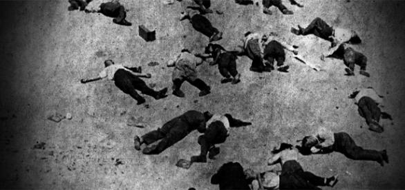 Imagen de archivo, Matanza de Badajoz
