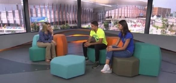 Tiago Braz no programa Globo Esporte