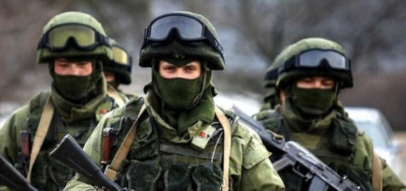 Tropas militares rusas en Crimea
